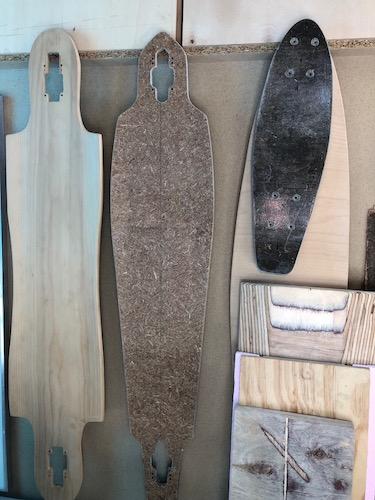 Ein Longboard aus Hanf